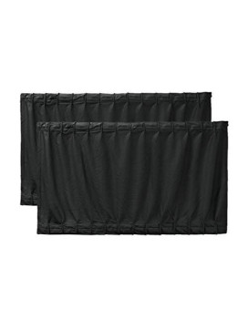 uxcell 2 Pcs 70 x 39cm Black Adjustable VIP Car Window Curtain UV Sunshade Visor