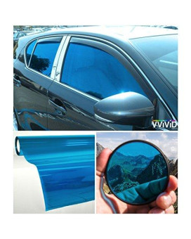 "VViViD Colorful Transparent Vinyl Car Window Tinting 30"" x 60"" 2 Roll Pack (Blue)"