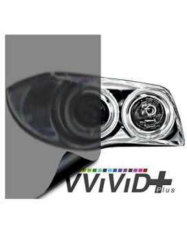 "VViViD Air-Tint Matte Black Headlight/Tail Light Window Tint (17.9"" x 60"" large roll)"