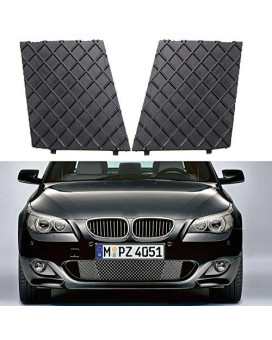 YUK Left&Right Front Bumper Cover Lower Mesh Grill Trim For 2003-2010 BMW E60 E61 M Sport Package Grille
