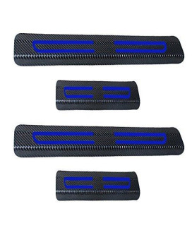 For Toyota Carmy Corolla Rav4 Highlander Vinyl Door Sill Protector Blue 4pcs