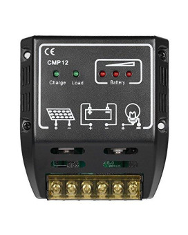 Anself 20A 12V/24V Solar Charge Controller for Solar Panel Battery Overload Protection