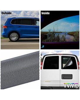 "VViViD Black Perforated One-Way Vision Vinyl Automotive Window Wrap Roll (17.9"" x 48"")"