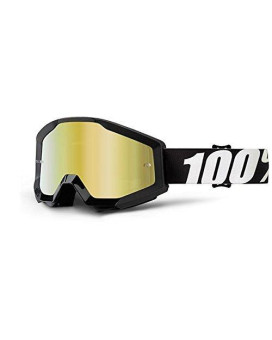 100% Strata Adult Off-Road Goggles - Outlaw/Gold Lens/One Size