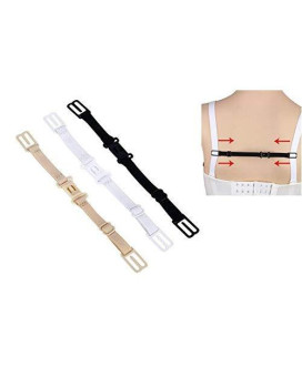 3Pcs Colors As Photo Adjustable Elastic Non-Slip Sports Bra Concealing Underwear Extenders Shoulder Strap Holder Supporter Clip With Buckle Hook