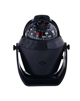 WINOMO Car Compass Ball Dashboard Electronic Digital Navigation Compass for Boat Caravan Truck SUV
