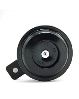 Universal Waterproof Motorcycle Electric 12V 1.5A Round Black Basin Air Horn Motorbike Loud Disc Speaker 105Db (Small, 1.5A)