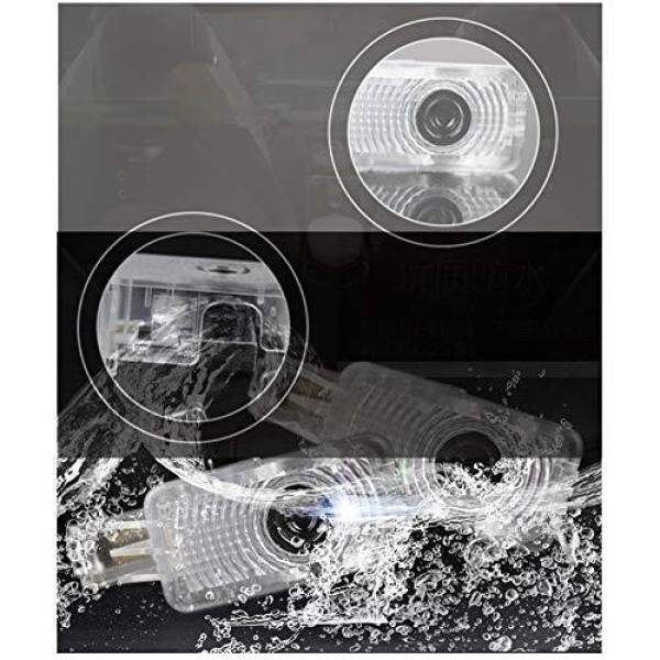 Buy DELEIKA 2ps LED Car Door Welcome Logo Ghost Shadow