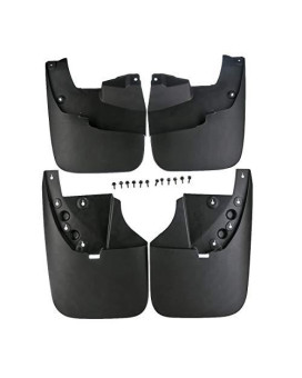 A-Premium Splash Guards Mud Flaps Mudflaps For Toyota Tundra 2007-2013 Without Flares
