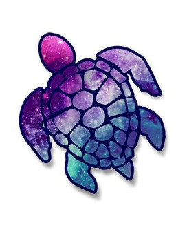 Vinyl Junkie Graphics 3 Inch Sea Turtle Sticker For Laptops Cupstumblers Cars And Trucks Any Smooth Surface (Starry Sky)
