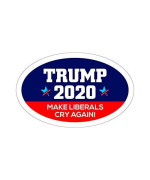 Oval Car Magnet Trump 2020 Trump Make Liberals Cry Again To439