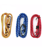 """Wideskall 6 Pieces 30"""" Inch Extra Long Bungee Cords With Hooks, Assorted Color"""