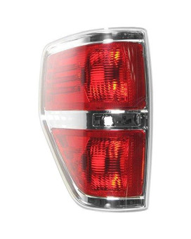 Taillamp Taillight Rear Brake Chrome Trim Driver Side Left Lh For F150 Styleside