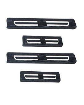 Universal Vinyl Door Sill Protectors Fit All Cars White 4pcs