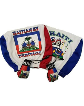 Haiti Headrest Cover Flag Fit For Cars Vans Trucks-Sold By A Pairs W/ Haitian Boxing Gloves
