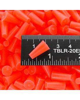 HTMS 3/16' X 11/32' High Temp Silicone Rubber Tapered Covering Powder Coating Plugs - Painting, Cerakote, Anodizing, Plating, Media Blasting, General Covering and Sealing Stoppers (50)