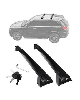 Yitamotor Front And Rear Roof Rack Cross Bars Set For 2011-2018 Jeep Grand Cherokee (Fit For Limited And Overland Only)