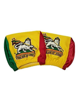 Lion Of Judah Rasta Headrest Cover Flag Fit For Cars Vans Trucks-Sold By A Pairs