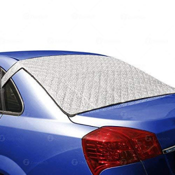 Zone Tech Car Rear Windshield Cover Protector With Flaps - All Weather Premium Quality Summer Winter Shield Protector