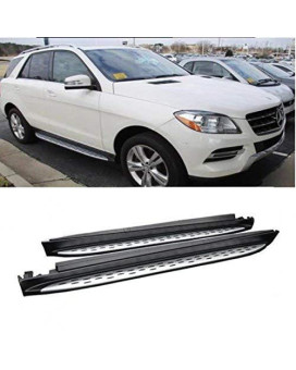 Viogi 2Pcs New Oe Style Silver Aluminum Side Step Nerf Bars Running Boards + Necessary Mounting Hardware For 06-11 Benz Ml-Class (W164)