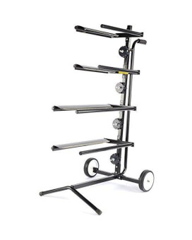 JEGS Performance Products 81230 Mobile Covering Paper Stand Holds (2) 18 & (2) 12