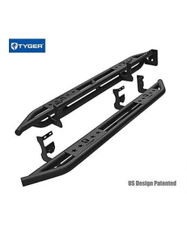 Tyger Auto Tg-Am2C20228 Star Armor Kit For 2004-2012 Chevy Colorado/Gmc Canyon Crew Cab | Textured Black | Side Step Rails | Nerf Bars | Running Boards