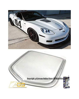 Zr1 Style Polycarbonate Front Crystal Clear Window Heat Extractor Hood Insert For 05-13 Corvette C6 Base Z06 Grand Sport 2005 2006 2007 2008 2009 2010 2011 2012 2013 05 06 07 08 09 10 11 12 13