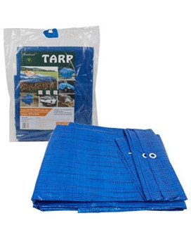 20 Ft X 10 Ft Waterproof Multi Purpose Blue Tarp Poly Cover For Roof Car