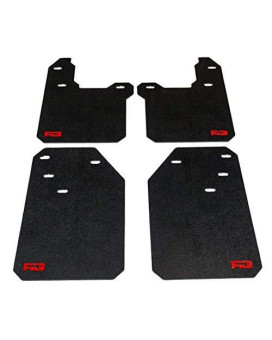Toyota Tacoma Mud Flaps Gen3 (2016+) (Stock, Red)