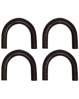 (4) Four 1/2 Thick Steel Rope Chain Tie Down Truck Trailer Weld-On Hook D Ring