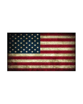 "Usa Flag Sticker Rustic Bumper Sticker Car Decal Gift Patriotic American Worn United States (3X5"")"