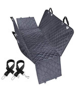 URPOWER Dog Car Seat Covers, 100% Waterproof Pet Seat Cover Nonslip Dog Seat Cover for Back Seat Washable Car Dog Seat Cover with Pet Seat Belts and Side Flaps Hammock for Cars Trucks and SUVs