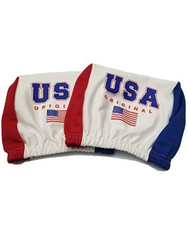 Usa U.S.A America Headrest Cover American Flag Fit For Cars Vans Trucks-Sold By A Pairs