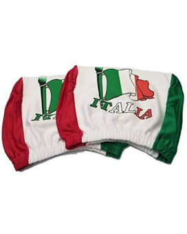 Italy Headrest Cover Italian Flag Fit For Cars Vans Trucks-Sold By A Pairs