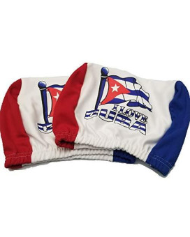 Cuba Headrest Cover Cuban Flag Fit For Cars Vans Trucks-Sold By A Pairs