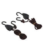 Vorcool 2 Pcs Kayak Canoe Boat Rope Pulley Lock Bow Stern Tie Down Strap Adjustable Rope Hanger 1/8 Inch 68Kg Weight Capacity