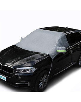 """Automecar Car Windshield Cover Snow ICE Reflective Anti-Collision Vehicles Exterior Windshield Cover for CarAll Seasons Sun Shade UV Protector Weatherproof for SUV Trucks Vans 78.7"""" 62.2"""""""
