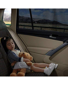 aokway Car Sun Shade, Car Side Rear Window Shade Mesh Magnetic Protect your kids and pets in the back seat from sun glare and heat