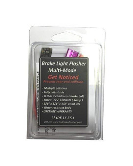 Vehicle Brake Light Flasher Module. Safety Flash Light Alert. Universal. For Motorcycles And Cars.