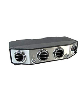 Old Air Products Ip-350Hc - Under Dash A/C & Heat Unit, Chrome Face With Round Louvers