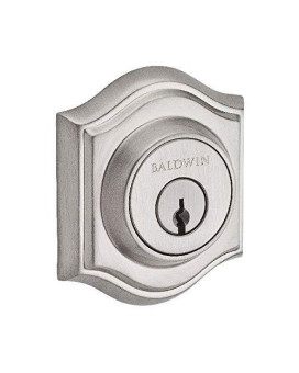 Baldwin Reserve SCTAD150S Single Cylinder Traditional Arch Deadbolt with Smartkey Satin Nickel Finish