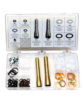 Edelmann 70013 Power Steering O-Ring, Teflon Seal, And Copper Washer Assortment With Tools