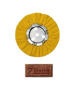 "Zephyr Awy58-8Wb Yellow 8"" Airway Buffing Wheel With 1 Lb Tripoli Bar Heavy/Medium Cut"