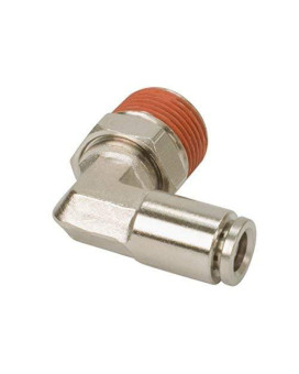 """VIAIR 13842 1/4"""" NPT(M) to 3/8"""" Airline 90 Degree Swivel Elbow Fitting (DOT Approved) (Pack of 2)"""