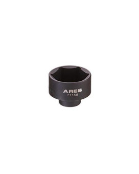 ARES 71155 | 32mm Low Profile Fuel Filter Socket | Low Profile Design for Easy Access | Chrome Vanadium Steel with Manganese Phosphate Coating to Resist Rust and Corrosion