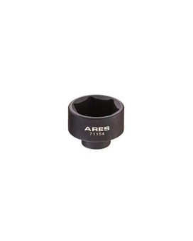 ARES 71154 | 30mm Low Profile Fuel Filter Socket | Low Profile Design for Easy Access | Chrome Vanadium Steel with Manganese Phosphate Coating to Resist Rust and Corrosion