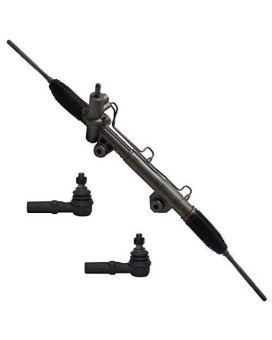 2Wd Only Detroit Axle - Complete Power Steering Rack & Pinion Assembly + All 4 Inner & Outer Tie Rod Ends