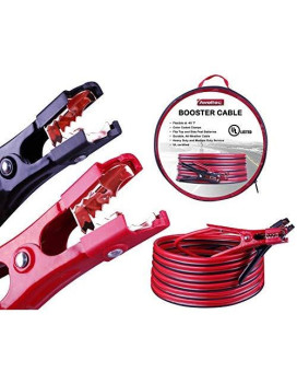 Aweltec Battery Jumper Cables 4 Gauge 20 Feet Heavy Duty Booster Cables (4Awg X 20Ft) Ul Listed
