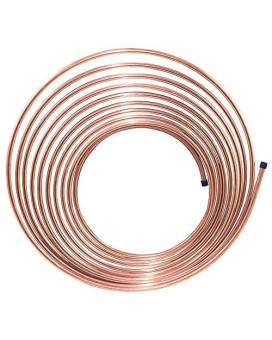 25 Ft 1/4 In Copper-Nickel Brake, Fuel, Transmission Tubing Coil (Universal Size)