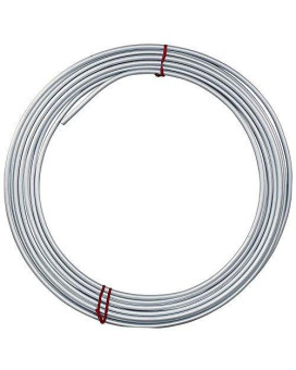 25 Ft 1/4 In Galvanized Steel Brake, Fuel, Transmission Line Tubing Coil (Universal Size)